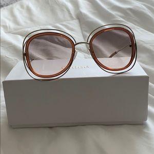 Chloè Carlina oversized sunglasses
